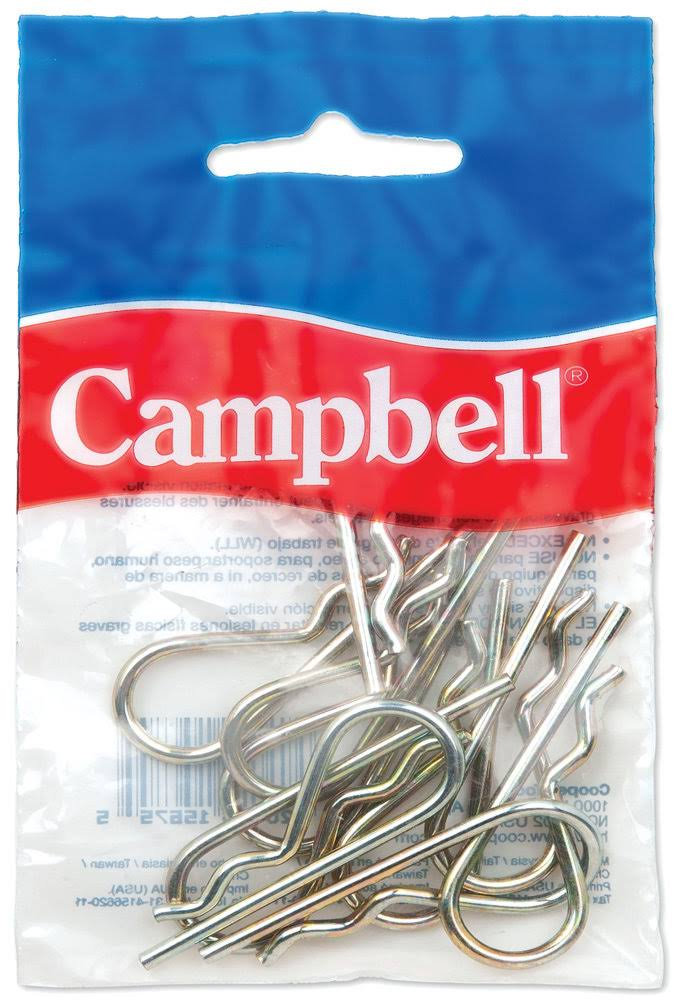 Campbell B3899814 Hitch Pin CLIP,1/4,Y/C,2/BAG