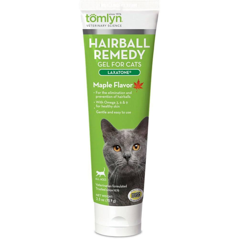 Tomlyn Hairball Remedy Gel for Cats - Maple Flavor