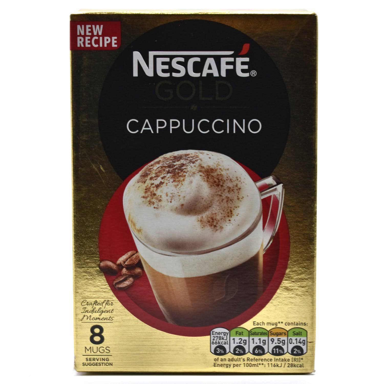 Nescafe Gold Coffee - Cappuccino, 8 Sachets, 136g
