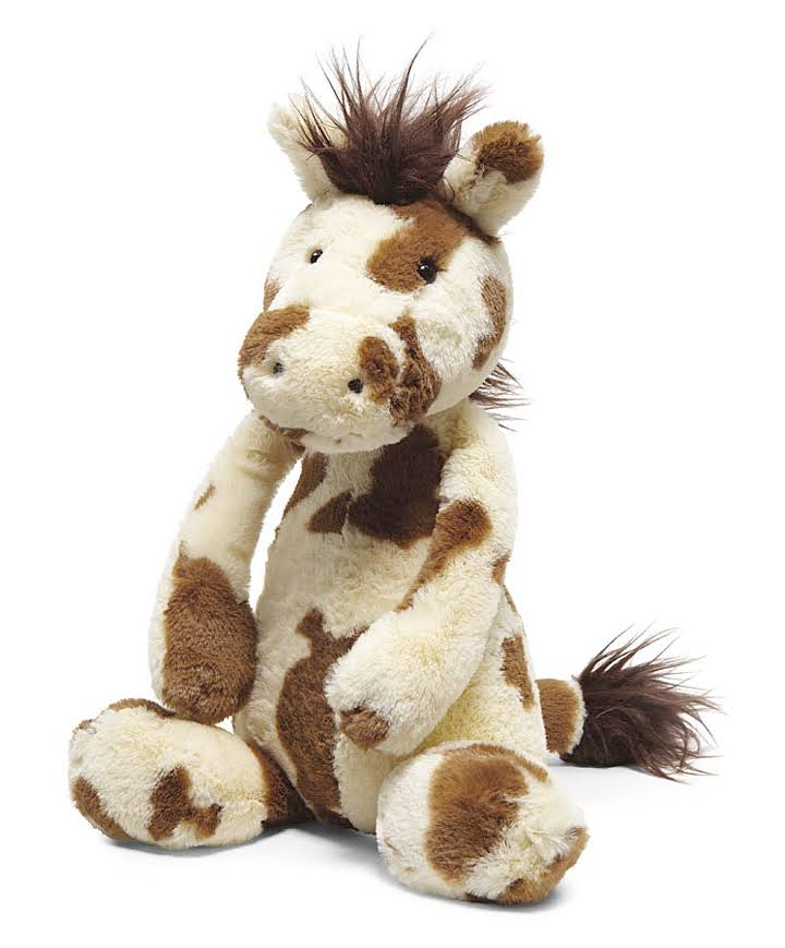 Jellycat Bashful Pinto Pony Soft Plush Toy - Medium, 12""