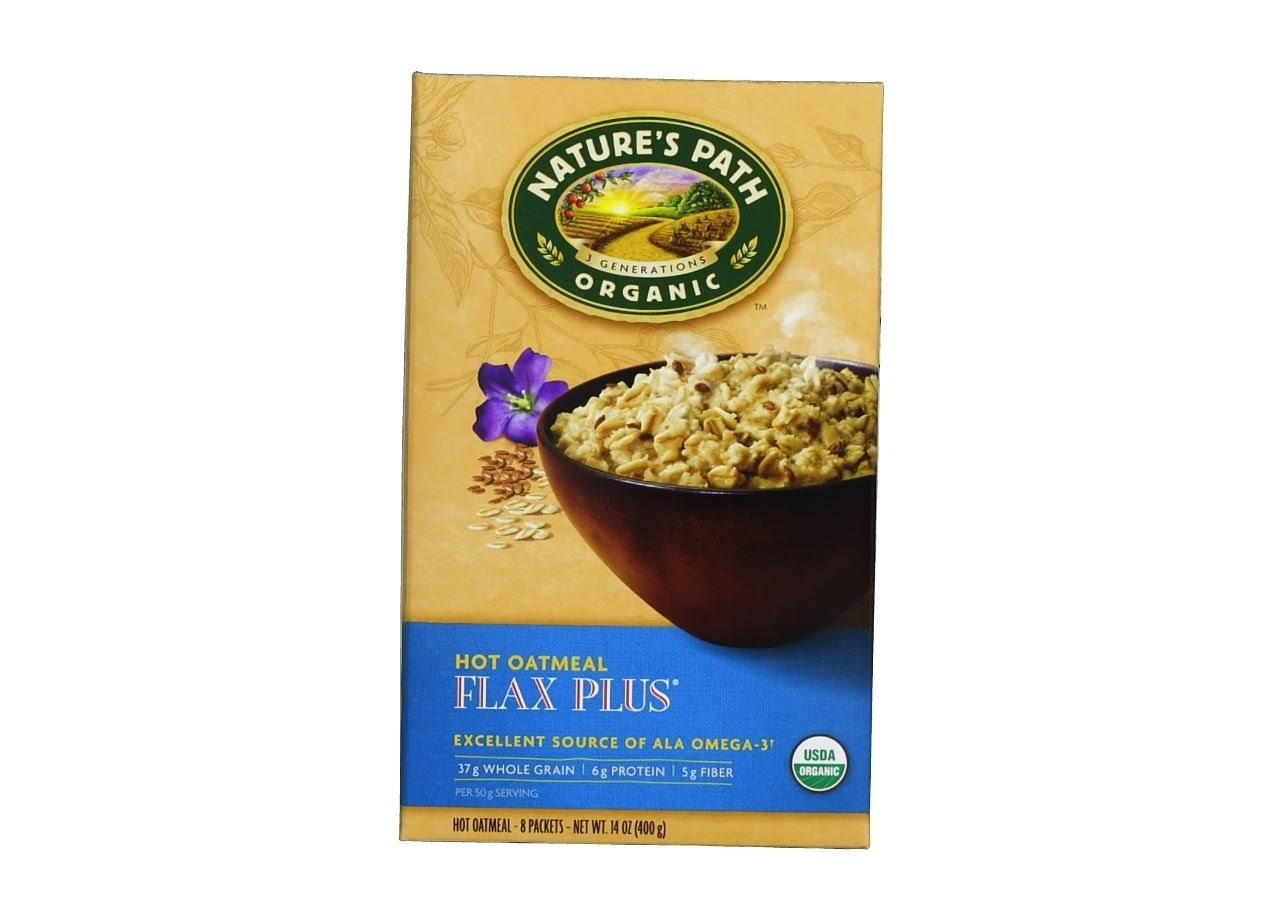 Nature's Path Organic Instant Hot Oatmeal Pouch Flax Plus