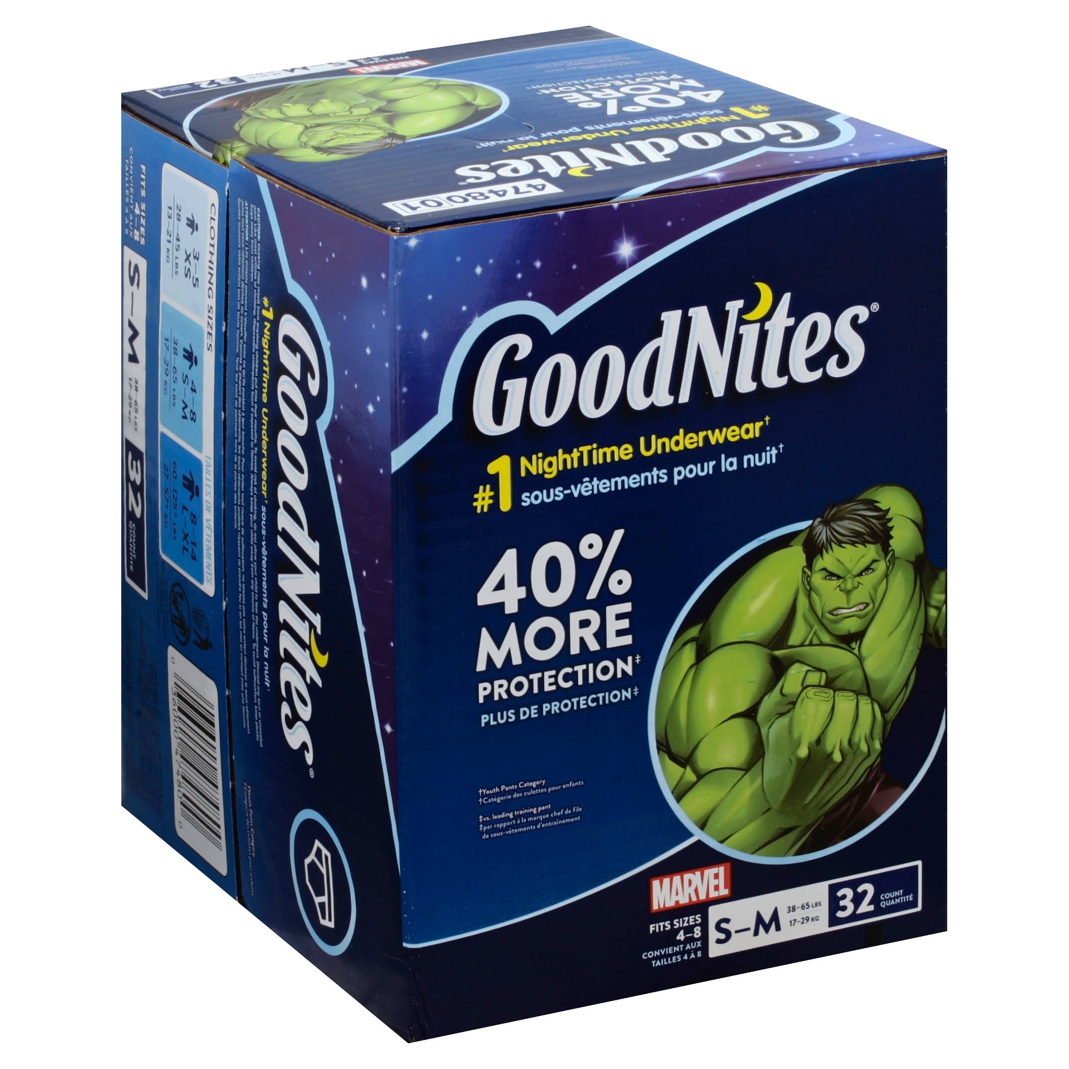 GoodNites Bedtime Bedwetting Underwear for Boys - Small / Medium, x32