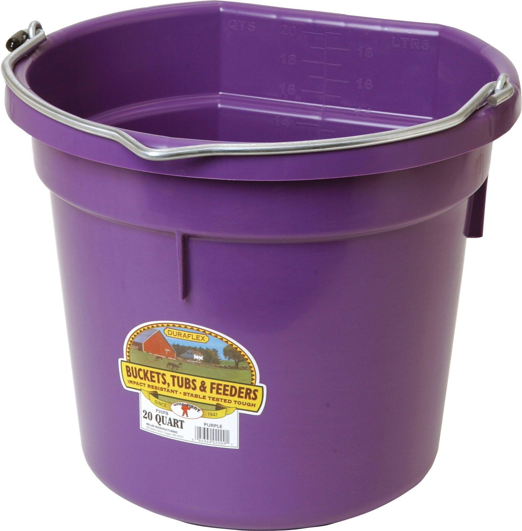 Little Giant DuraFlex Flat Back Plastic Bucket - 20 Quart