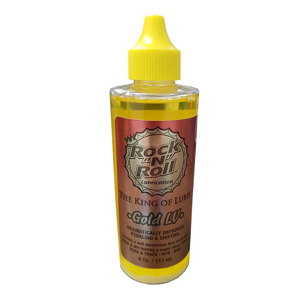 Rock N Roll Low Vapor Squeeze Bottle Gold Bike Chain Lube Cleaner - 4oz