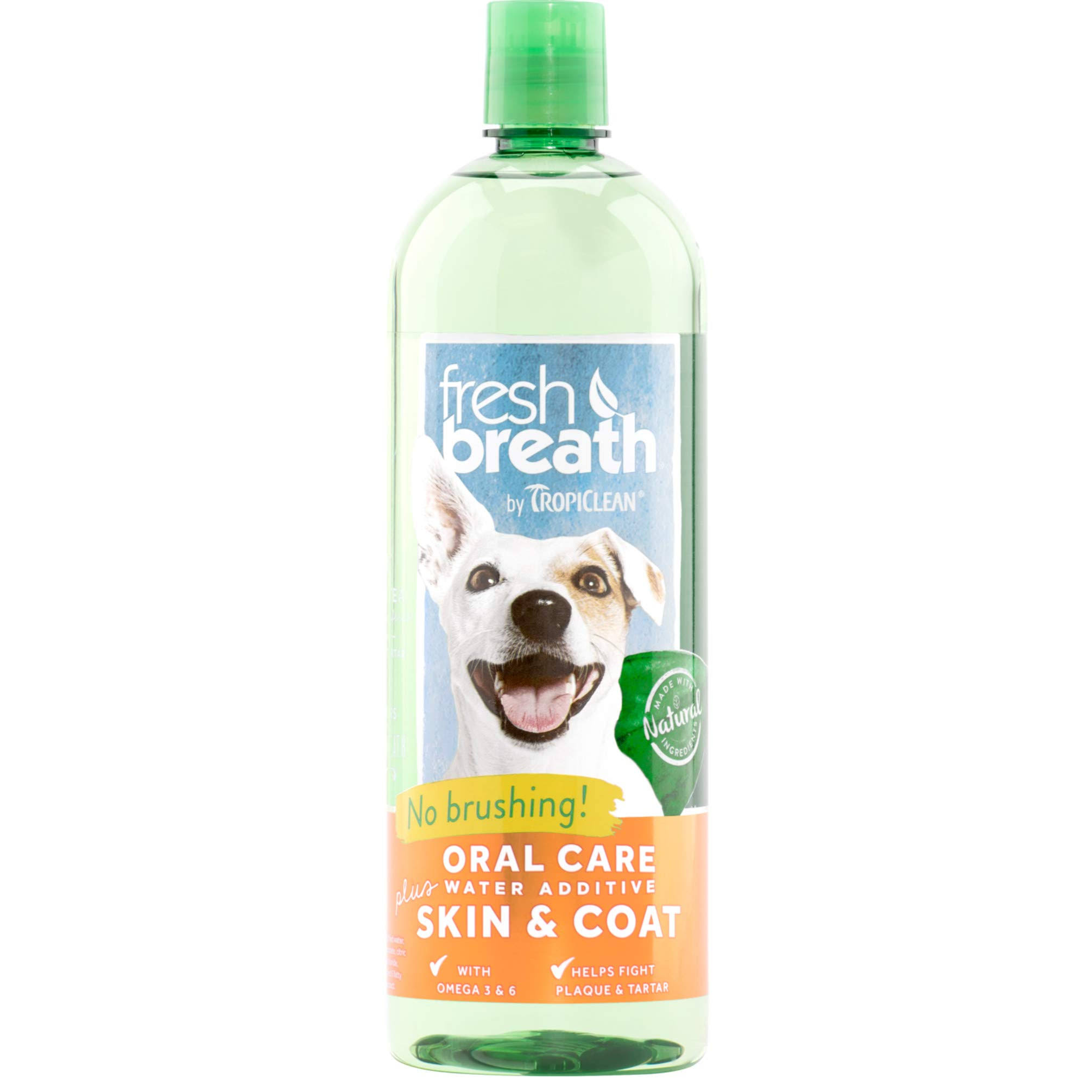 Tropi Clean Fresh Breath Plus Skin and Coat Oral Care Water - 33oz