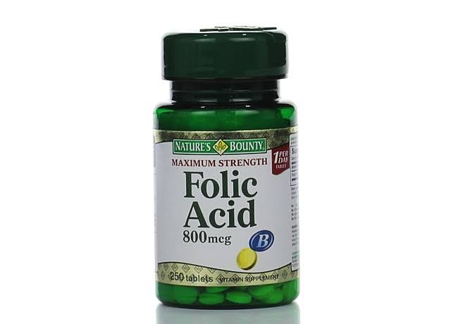 Nature's Bounty Folic Acid Tablets - 800mcg, x250
