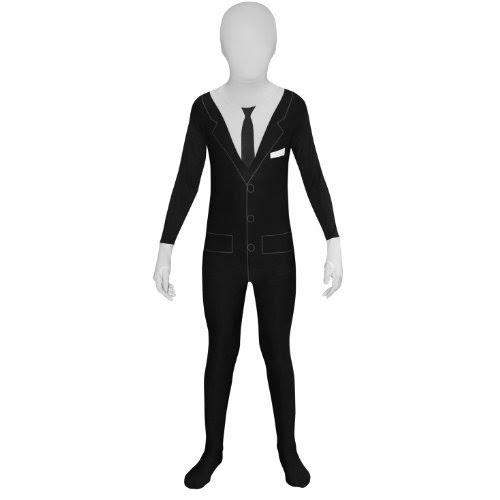 Slender Man Kids Morphsuit Fancy Dress Costume
