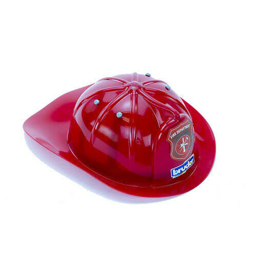 Bruder 10220 Red Fireman Helmet, Red