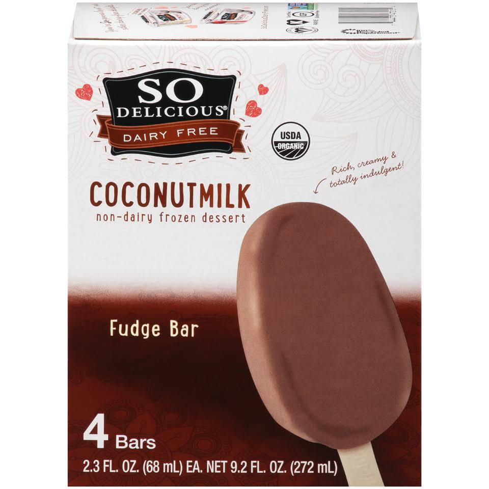 So Delicious Organic Minis Fudge Bar - 4pk