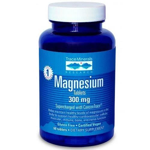 Trace Minerals Research Magnesium Tablets - 300mg, 60 Tablets