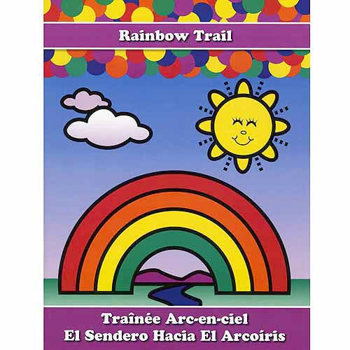 Do-A-Dot DADACT-340 Creative Activity Rainbow Trail Art Book