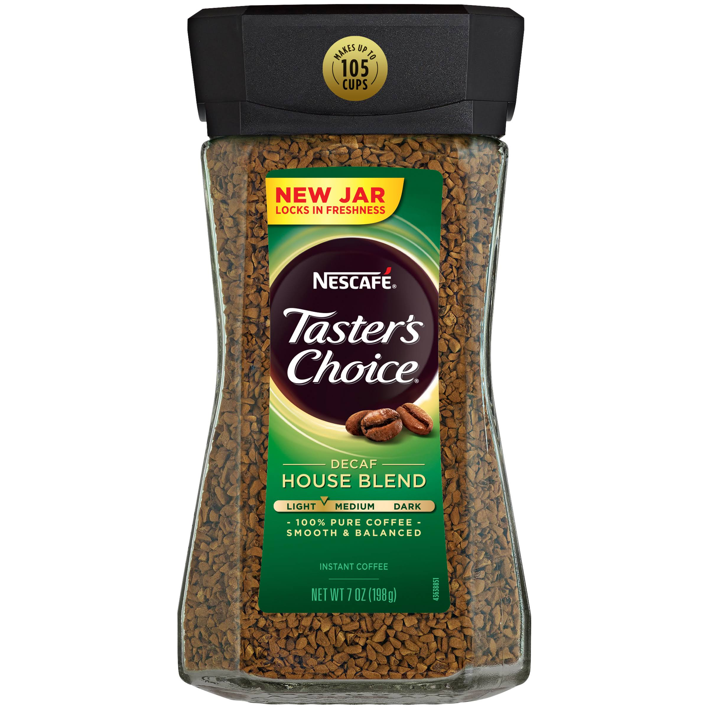 Nescafe Taster's Choice Decaf Instant Coffee - House Blend, 7oz