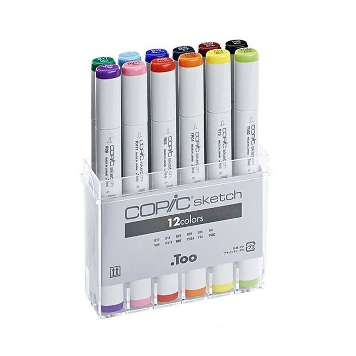 Copic Sketch Marker Basic Set - x12