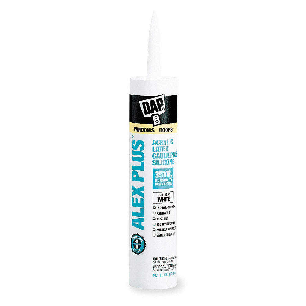 DAP Alex Plus White Acrylic Latex Caulk Plus Silicone