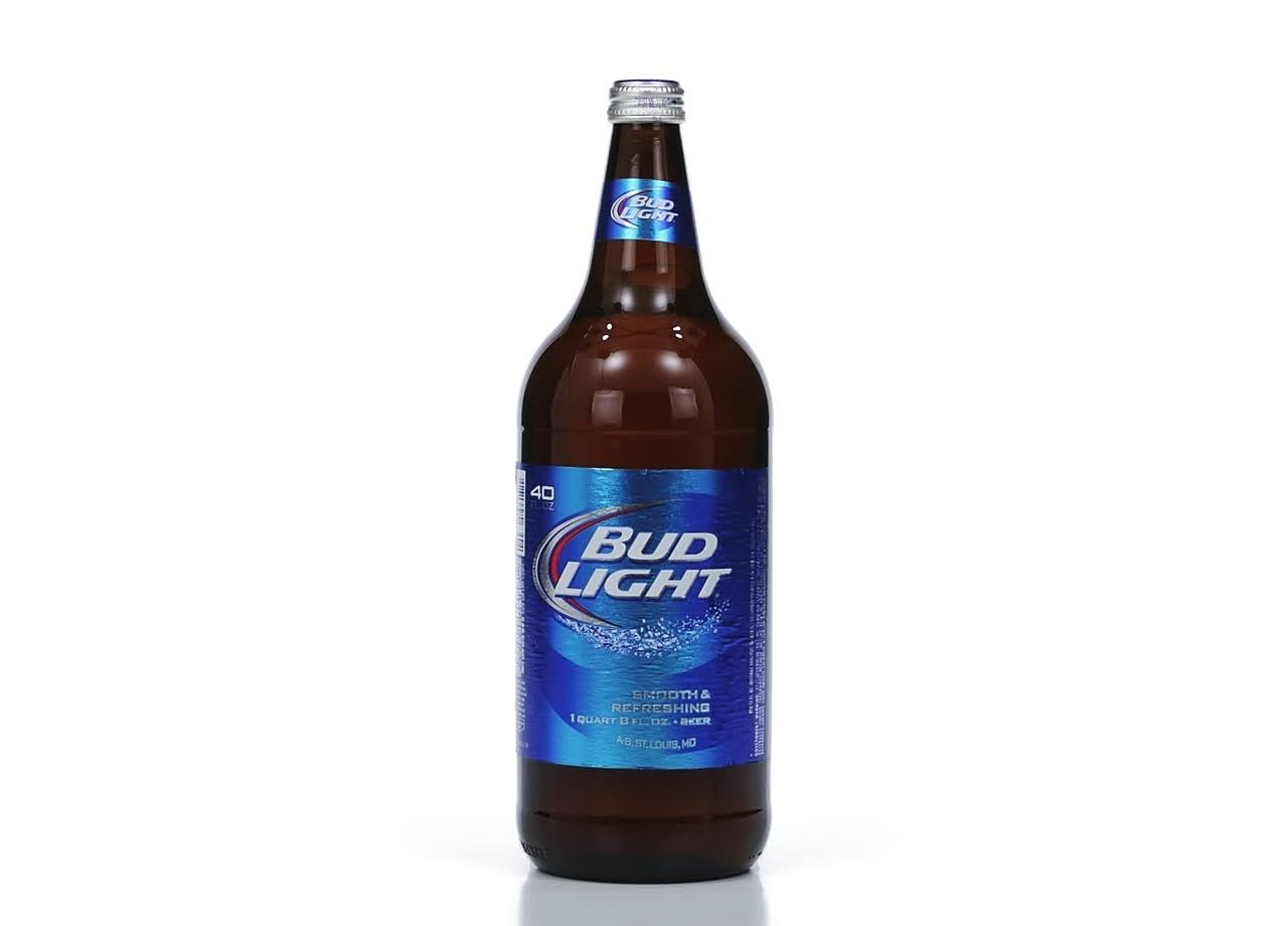 Bud Light Beer, Lager - 40 fl oz