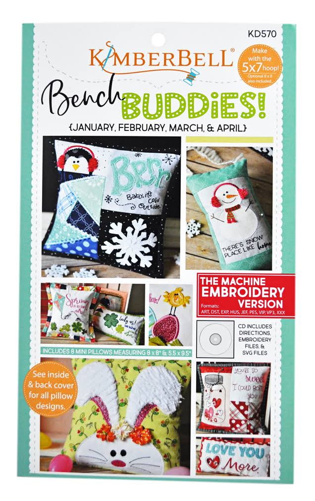Kimberbell Bench Buddies Cd: January, February, March, April (Machine Embroidery)