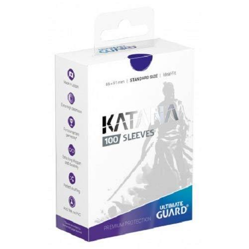 Ultimate Guard Katana Standard Size Sleeves Pack - 100pk, Blue