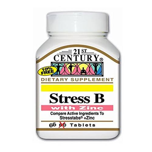 21st Century Stress B with Zinc Supplement - 66 Tablets