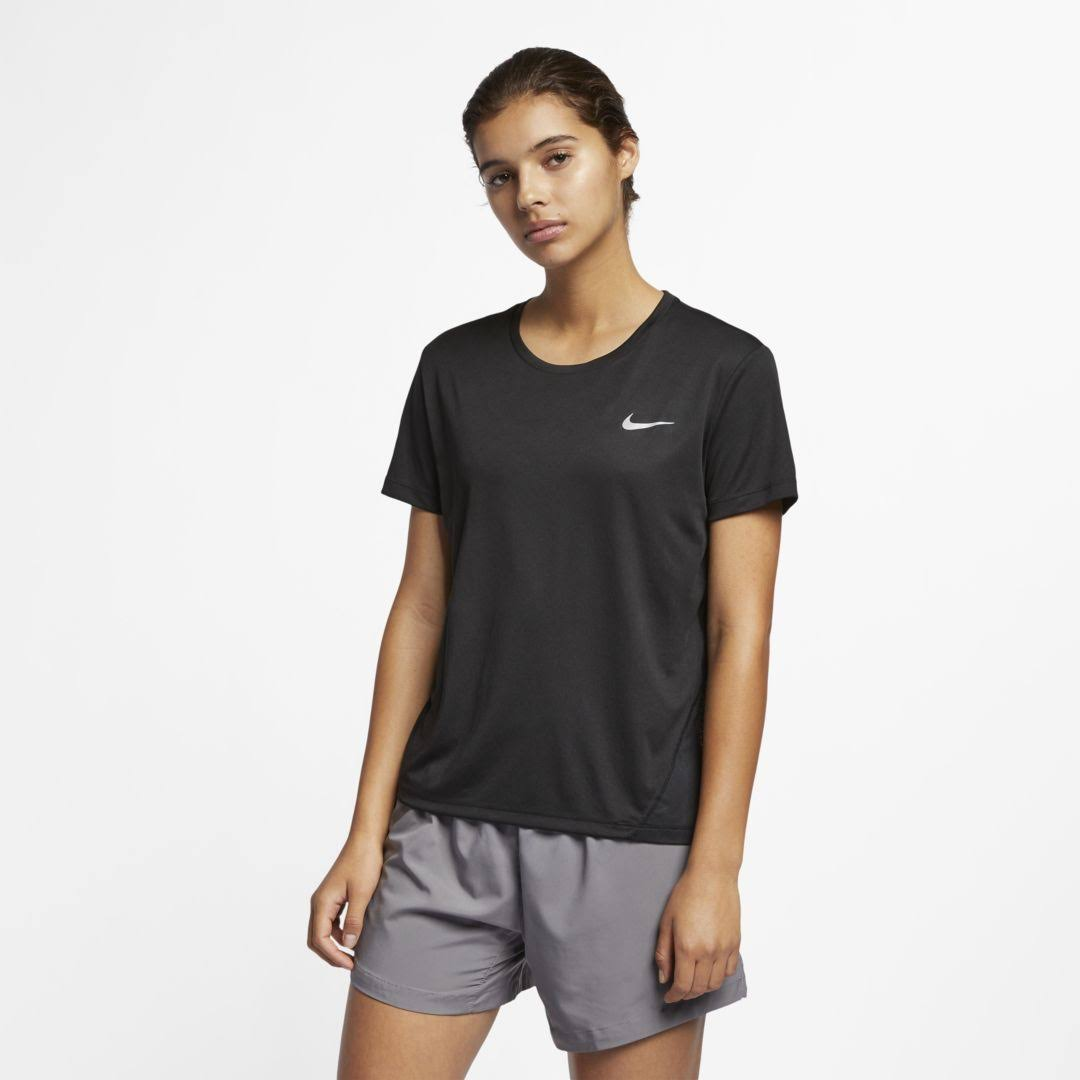 Nike Miler Women's Short-Sleeve Running Top Size M (Black)