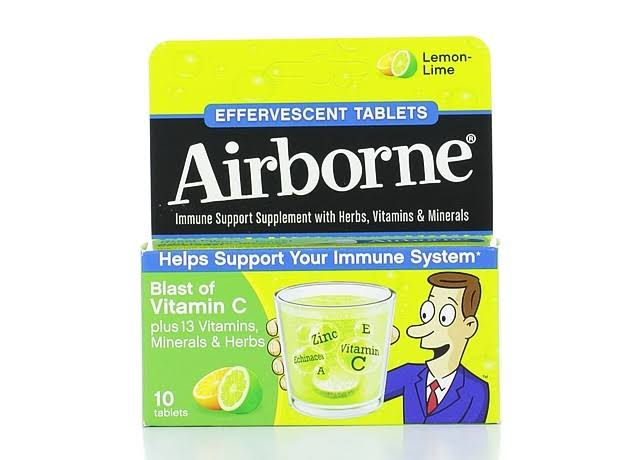 Airborne Original Effervescent Tablets - Lemon-Lime, 10pk