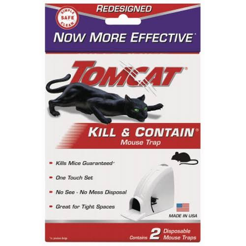 Tomcat Mouse Trap - 2 Disposable Mouse Traps