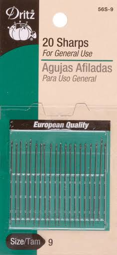 Dritz Sharps Needles - Size 5/10, 20pcs