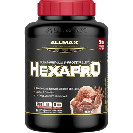 Allmax Nutrition Hexapro Protein Blend, Chocolate, 5 lbs