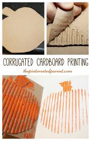 Spookley The Square Pumpkin Preschool Activities by Corrugated Cardboard Printing With A Pumpkin For Fall Autumn Or