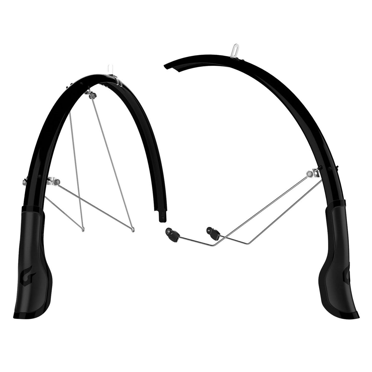 Blackburn Central Full Fender Set - Black, 700cm x 45mm