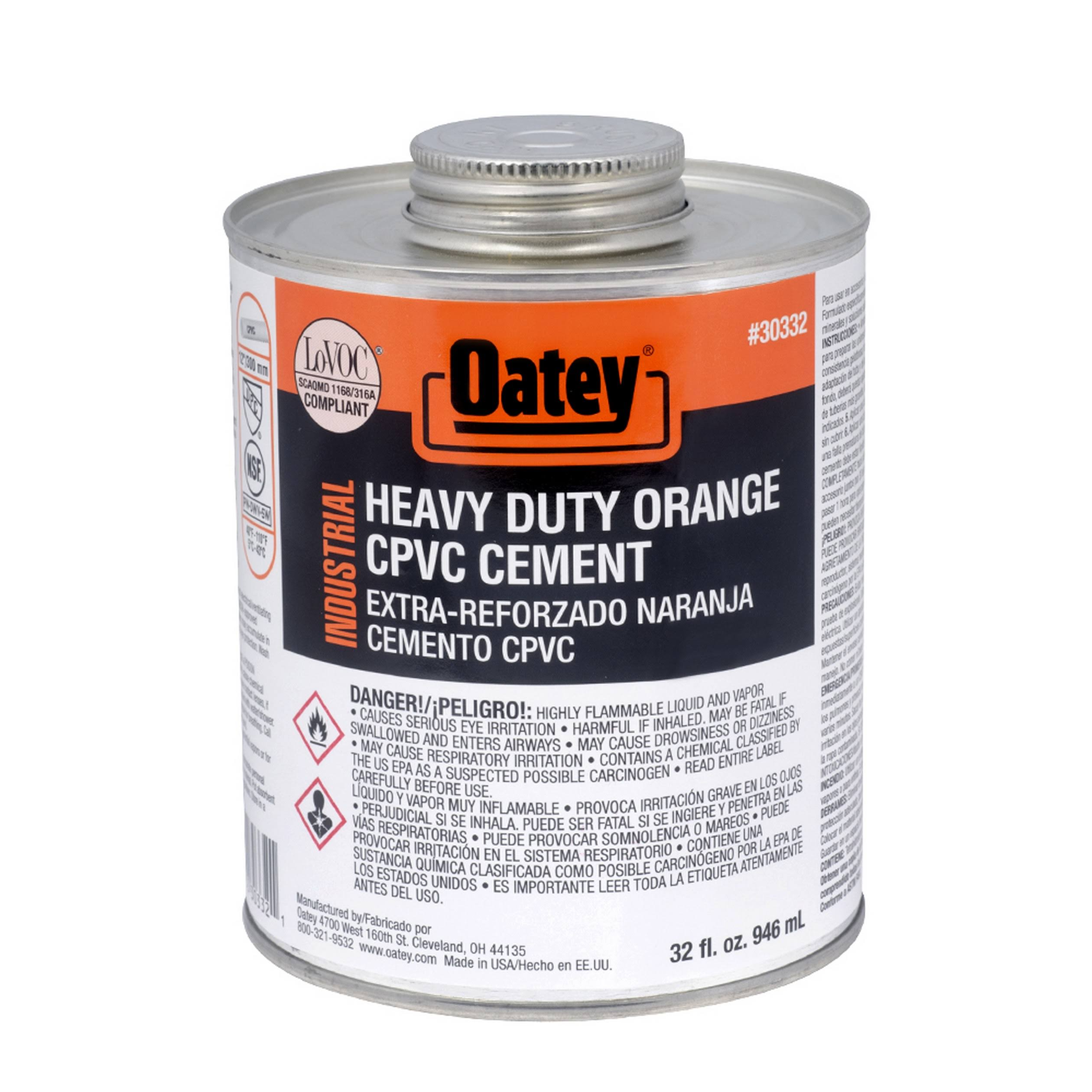 Oatey 31129 CPVC Cement - Medium Orange, 8oz