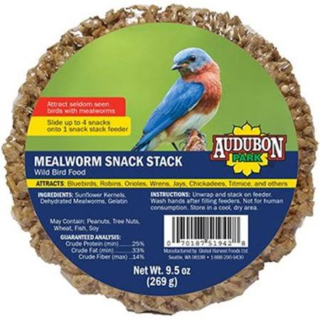 Global Harvest 13139 Mealworm Audobon Snack Stack