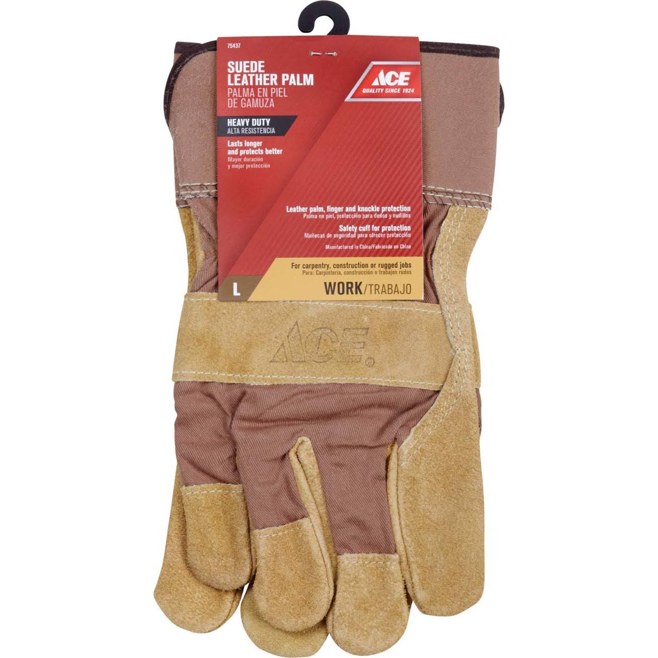 Ace Hardware Suede Leather Palm Gloves