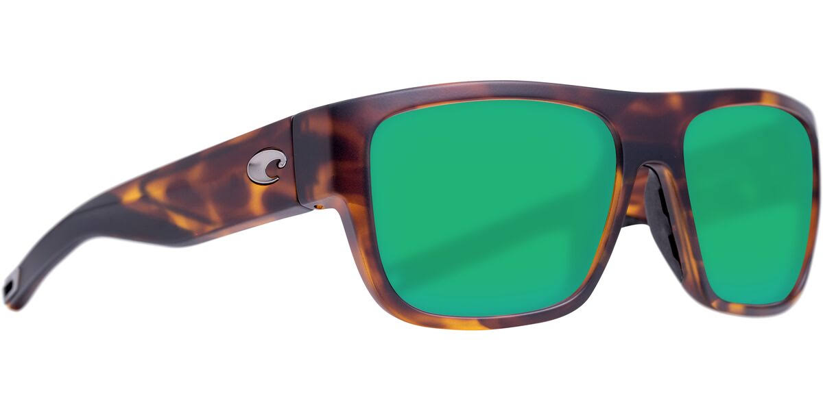 Sampan Sunglasses | Costa Del Mar Matte Tortoise / Green Mirror