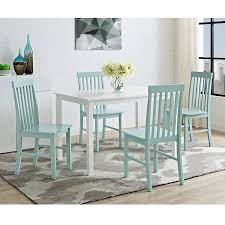 Wayfair Dining Room Tables by Amazon Com New 5 Piece Chic Dining Set Table And 4 Chairs White