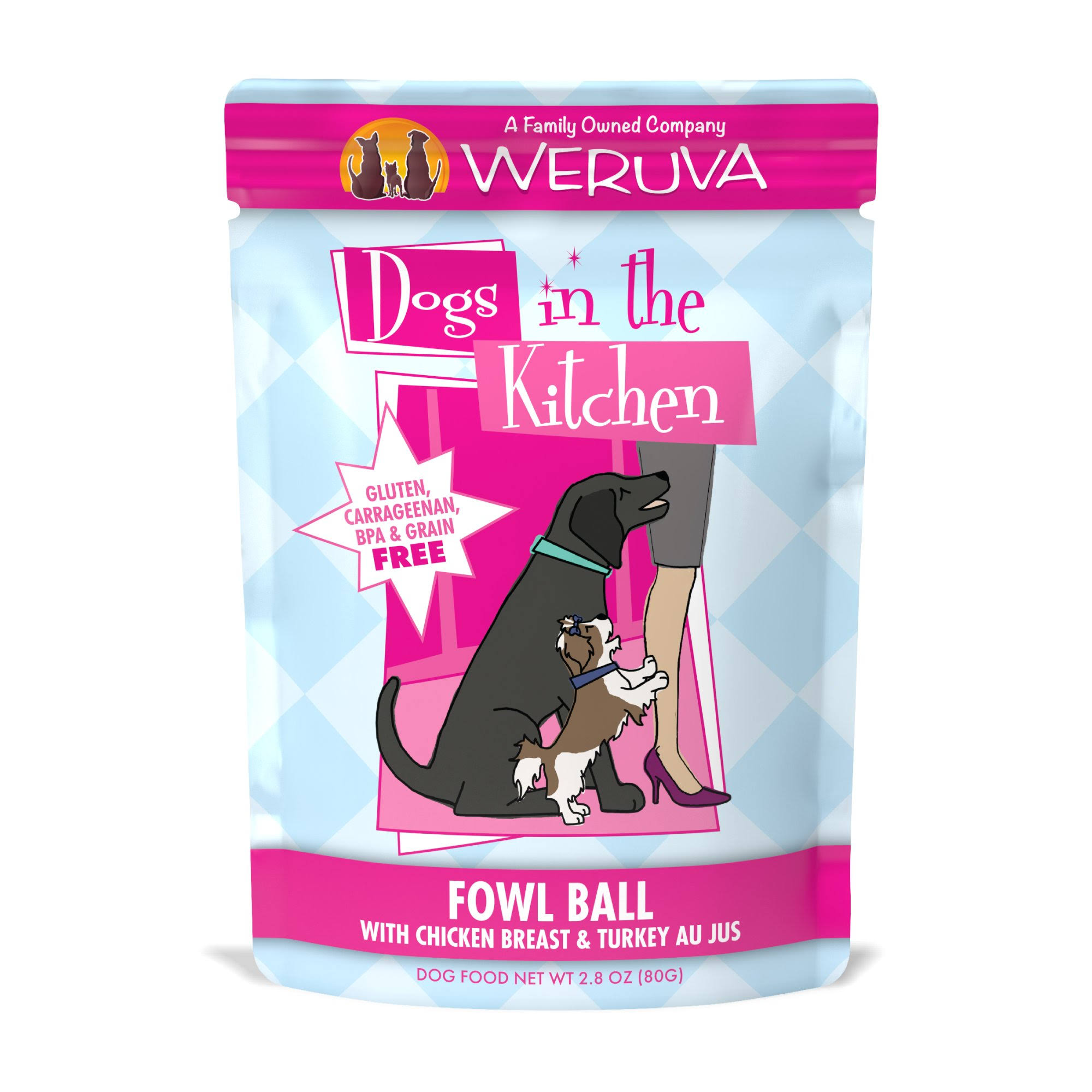 Weruva Dogs in the Kitchen Fowl Ball - Chicken Breast & Turkey