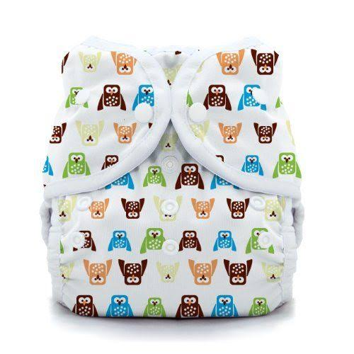 Thirsties Duo Wrap Snap Diaper - Hoot, Size 2, 18-40lbs