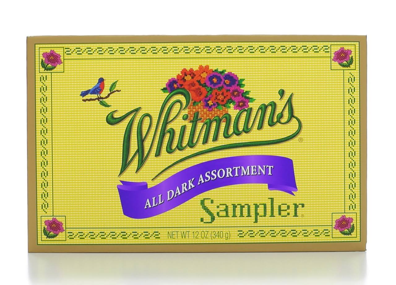 Whitmans Sampler All Dark Chocolate - 12oz