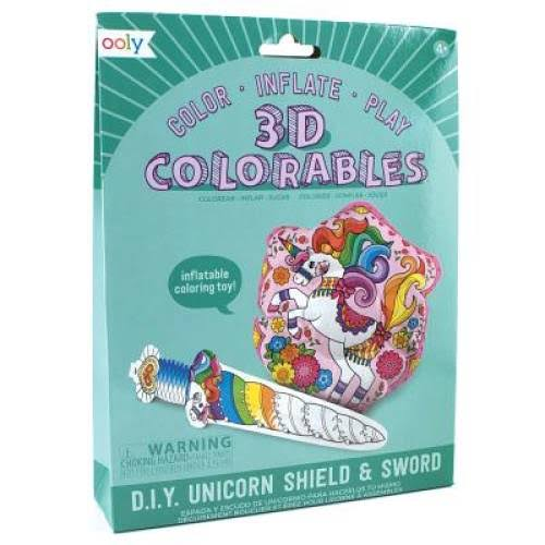 Ooly 3D Colorables Unicorn Shield and Sword Coloring Toys