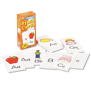 "Carson-Dellosa Alphabet Flash Cards - 6"" x 3"", 80ct"