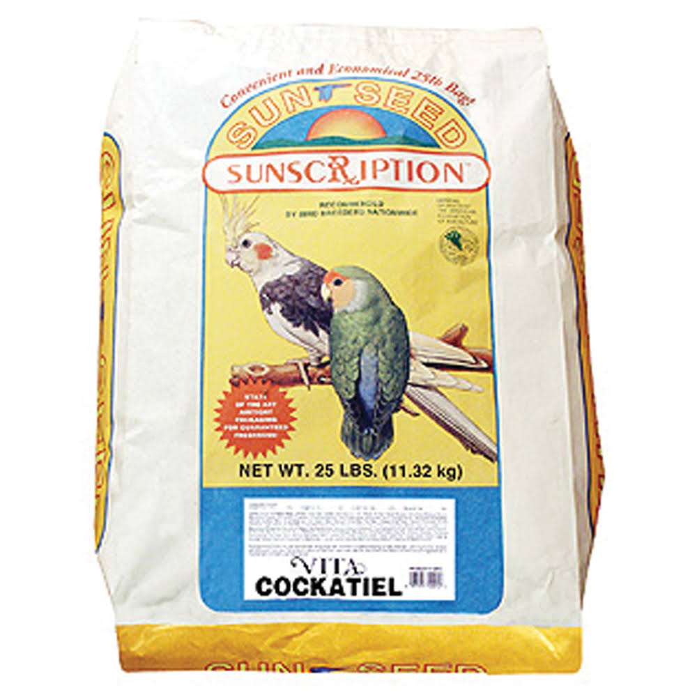 Sun Seed Company Sunscription Cockatiel Bird Food