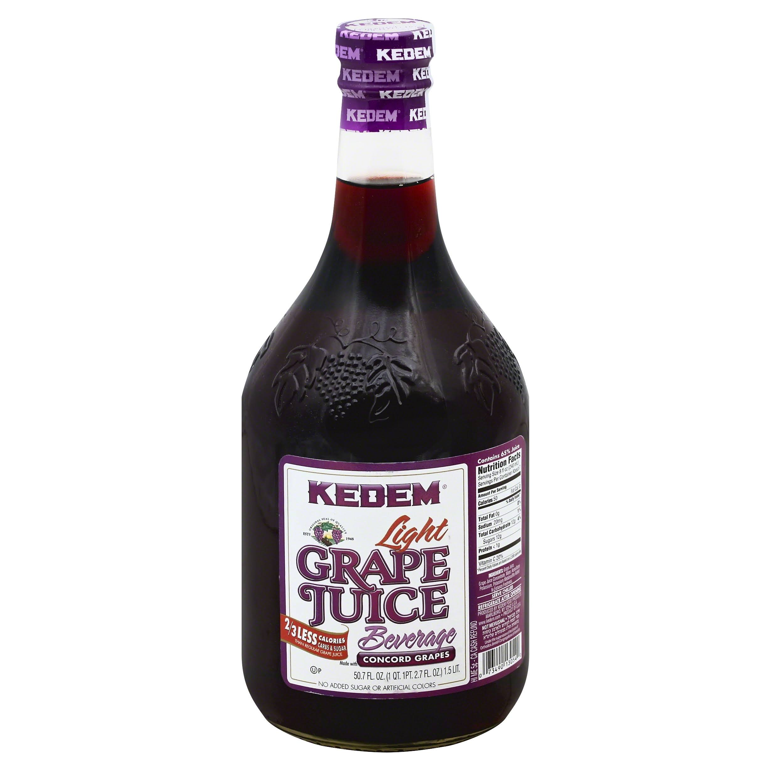 Kedem Juice Beverage, Grape, Light - 50.7 fl oz