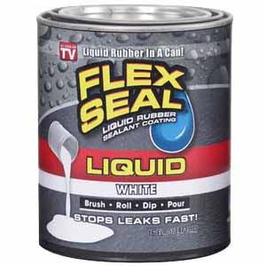 Flex Seal Liquid Rubber Sealant Coating - 473ml, White