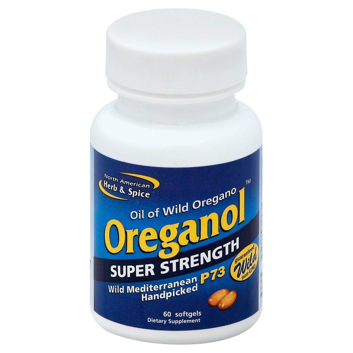 North American Herb & Spice Oreganol Super Strength Supplement - 60 Softgels
