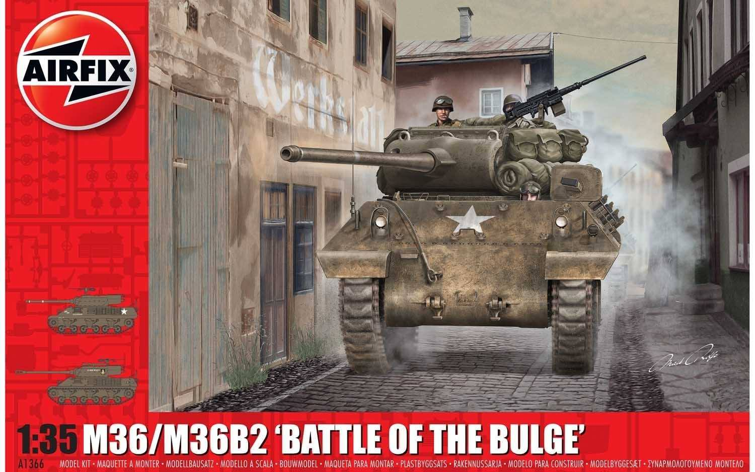 Airfix A1366 M36/M36B2 Battle of The Bulge 1:35 Scale Kit