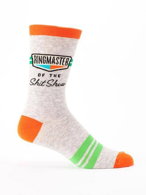 Blue Q Ringmaster of The Shit Show - Men's Crew Socks