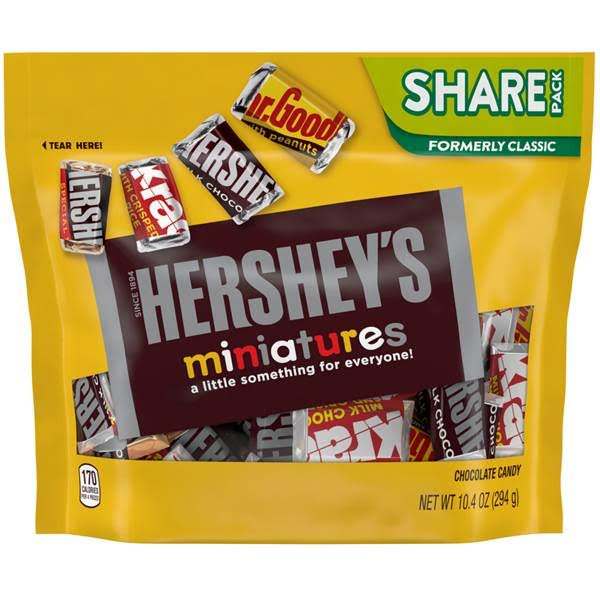 Hersheys Miniatures Chocolate Candy, Share Pack - 10.4 oz