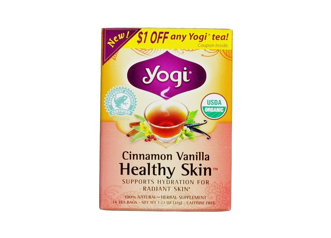 Yogi Healthy Skin Cinnamon Vanilla Tea Bags - 1.12oz, 16ct