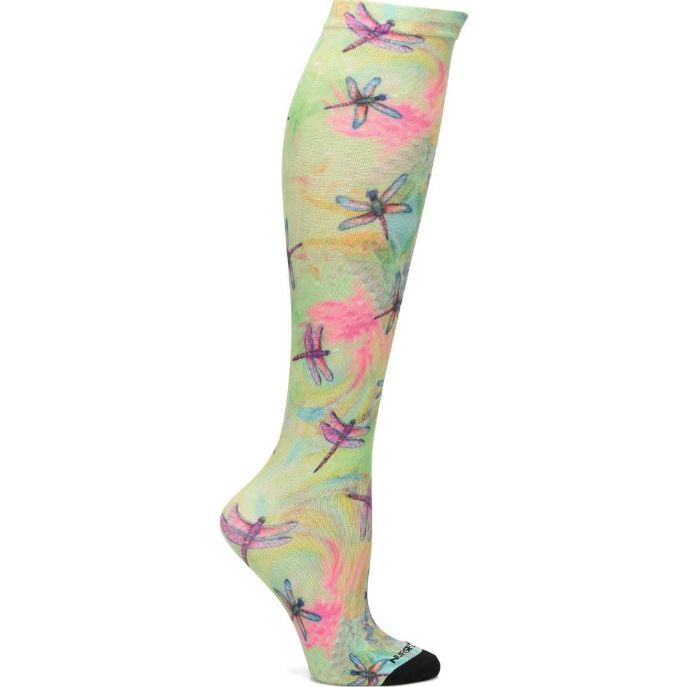 Nurse Mates Compression Socks Seamless 9-11 / Dragonfly