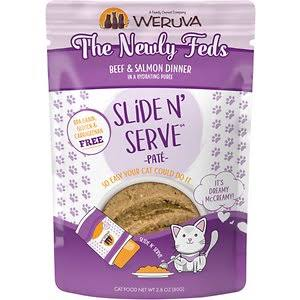 Weruva Slide N' Serve The Newly Feds Wet Cat Food - Beef & Salmon Dinner, 2.8oz