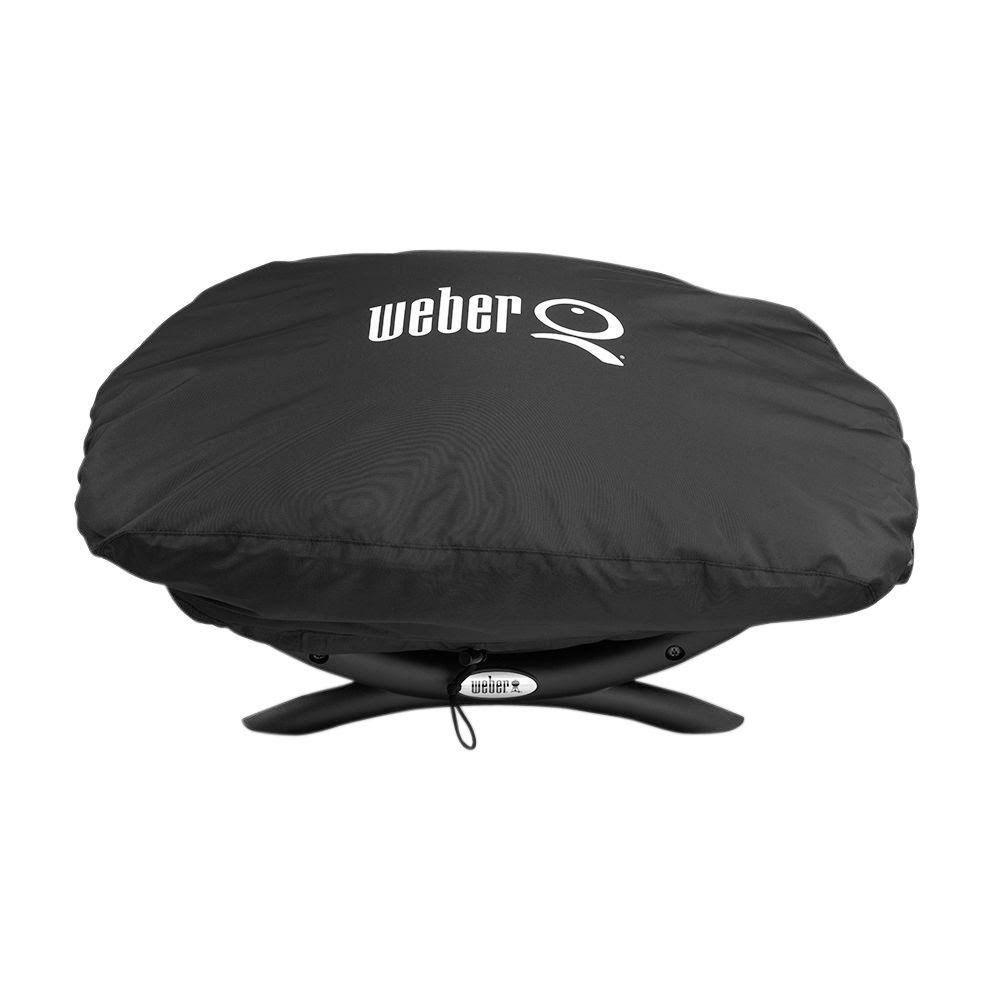 Weber 7110 Black Q 100 Series Vinyl Grill Cover - Black